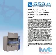 650A Machine à laver pour les aquatiques - Une solution éprouvée