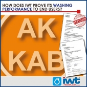 How does IWT prove its washing performance to end users?