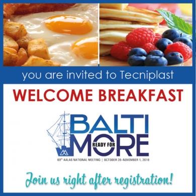 You Are Invited - AALAS 2018 Sneak Peek Welcome Breakfast