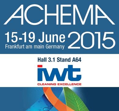 IWT at next ACHEMA Exibition