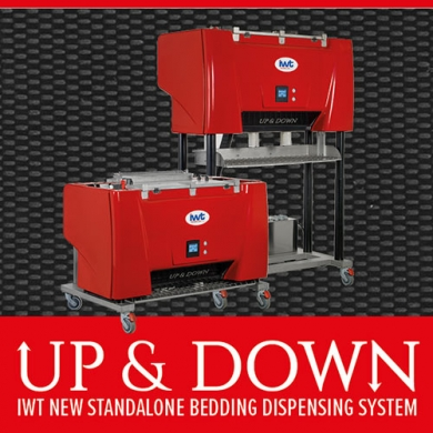 WELCOME TO UP&DOWN, IWT STANDALONE BEDDING DISPENSING SYSTEM FROM IWT!