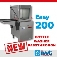 The new Easy 200 bottle washer passthrough joins the IWT bottle washer family!